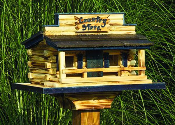 Amish Country Store Feeder Post Mount Rustic and Painted