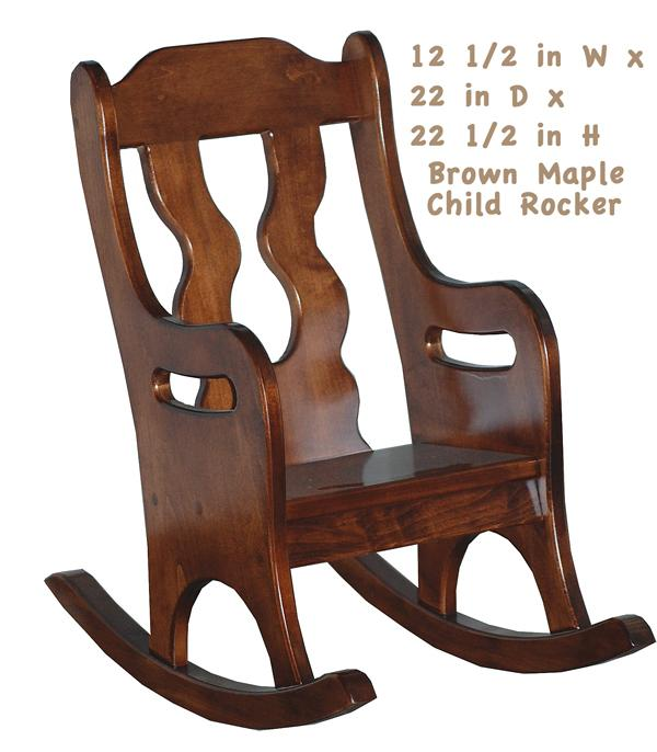 This Amish Child Handmade Rocker - All