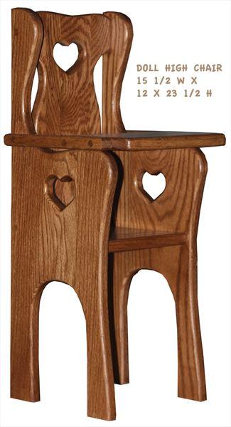 this amish doll handmade high chair all hardwood is fine usa amish rh artsinheaven com Old Wooden High Chairs Amish Wood Chairs
