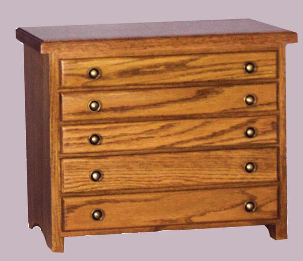 Jewelry Chests, Amish Jewelry Boxes, Five Drawer OAK or Cherry or QSWO