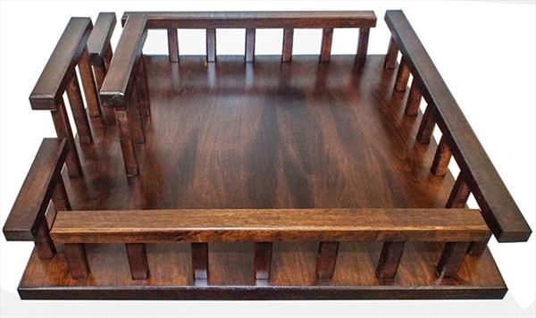 Amish Brown Maple Handmade Lazy Susan 16 inch Napkin Holder RectangleAmish Oak Handmade Lazy Susan with Napkin Holder