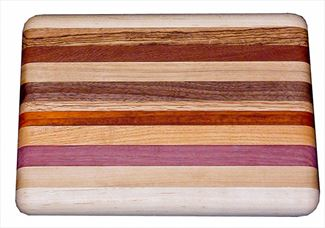 Amish EXOTIC WOOD CUTTING BOARD - 12 or 18 inch in a RAINBOW OF COLORS