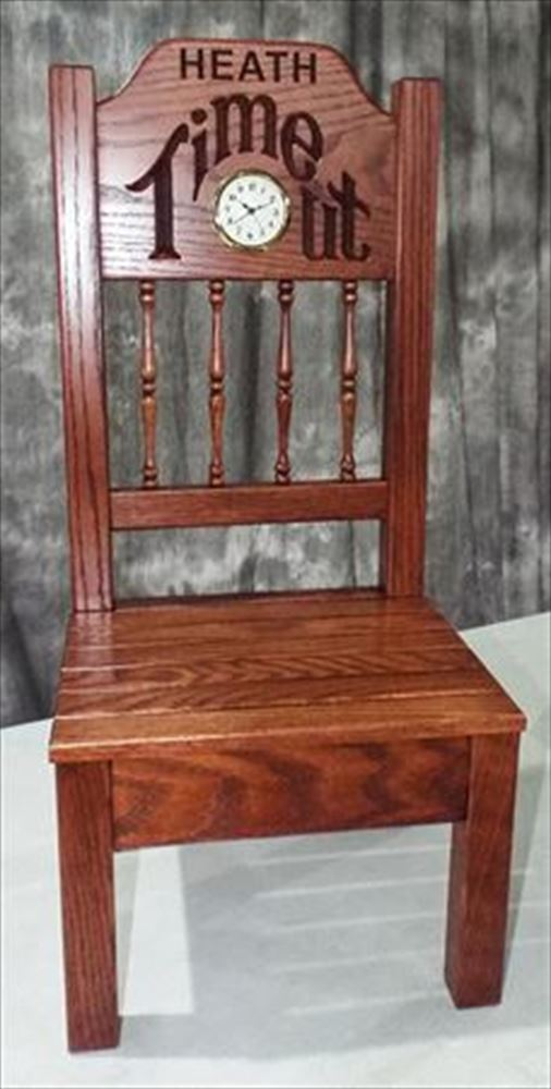 Amish Child Oak Time Out Chair Oak Hardwood Optional Personalized