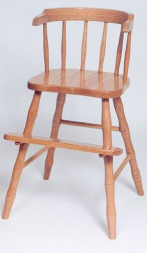 Amish Kids Furniture Chair, wrap around w Arms