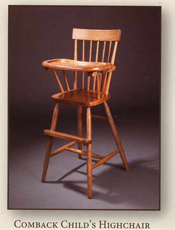 Amish Wooden Chairs ~ This amish baby furniture hardwood oak or brown maple