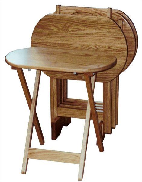 Amish Tv Oval Trays-set of 4